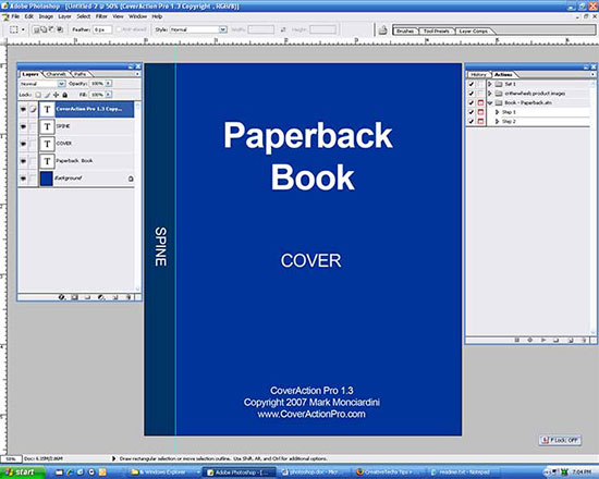 Book Cover Template In Photo ~ How to create a paperback ebook cover using photoshop